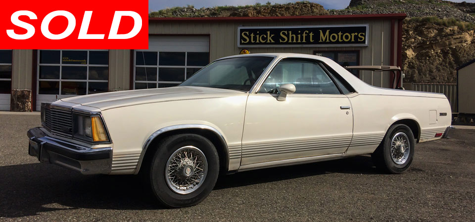 For Sale Used 1981 Chevrolet El Camino Stick Shift Motors Cody, WY