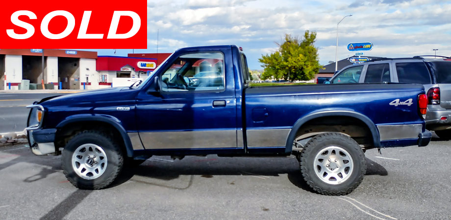 For Sale Used 1995 Mazda B2300 Pick Up Truck 4 x 4 Stick Shift Motors Cody, Wyoming