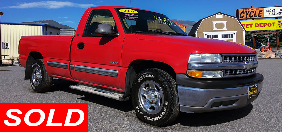For Sale Used 2001 Chevrolet C1500 Pickup Sold Stickshift Motors Cody, WY