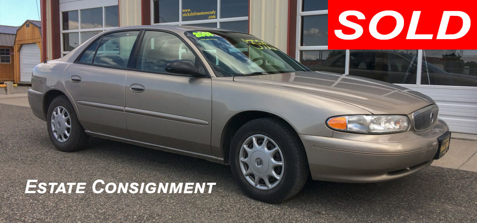 For Sale Used 2003 Buick Century Stickshift Motors Cody, WY