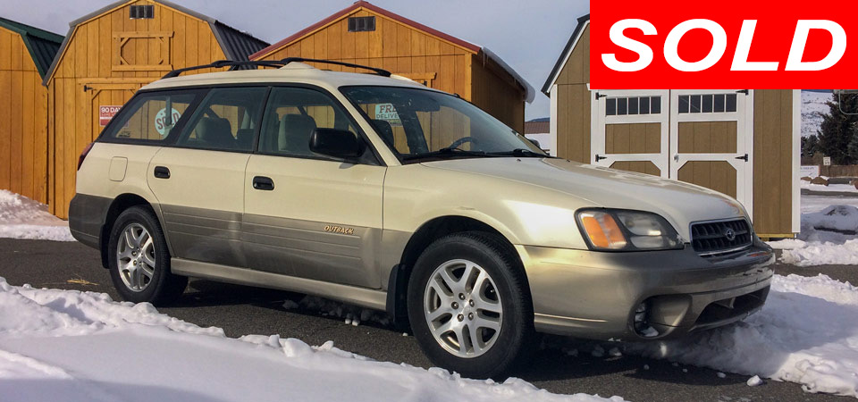 For Sale Used 2003 Subaru Outback Wagon AWD Stickshift Motors Cody, WY