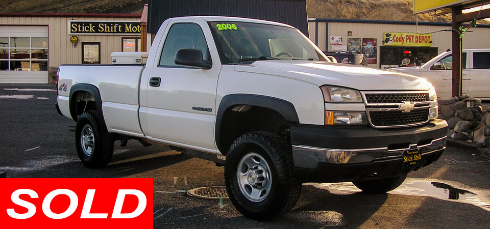 For Sale Used 2006 Chevrolet K2500 HD 4 X 4 Pickup SOLD!