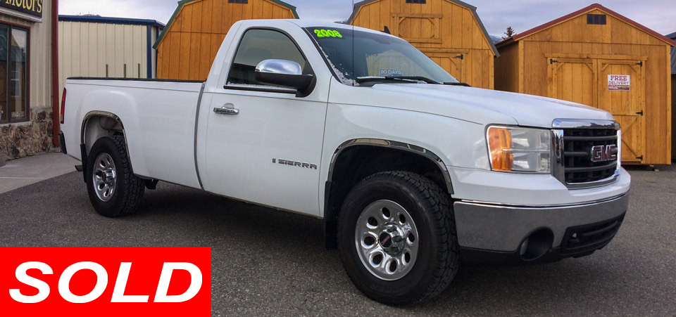 For Sale Used 2008 GMC Sierra K1500 4X4 Pickup Stickshift Motors Cody, WY