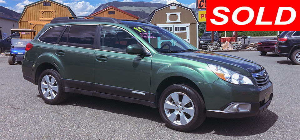 For Sale Used 2011 Subaru Outback Wagon Stickshift Motors Cody, WY