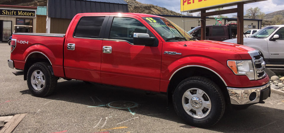 For Sale Used 2013 Ford F150 4X4 Supercrew Pickup Stickshift Motors Cody, WY