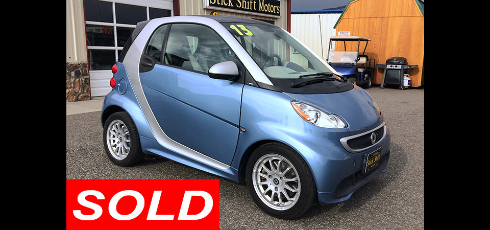 For Sale Used 2013 Smart Car Stickshift Motors Cody, WY