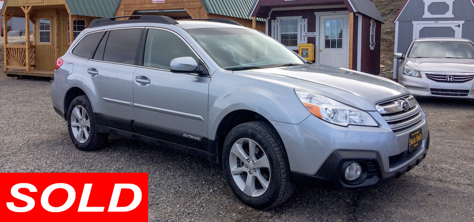 2013 Subaru Outback Wagon Premium All Wheel Drive For Sale Stickshift Motors Cody, WY