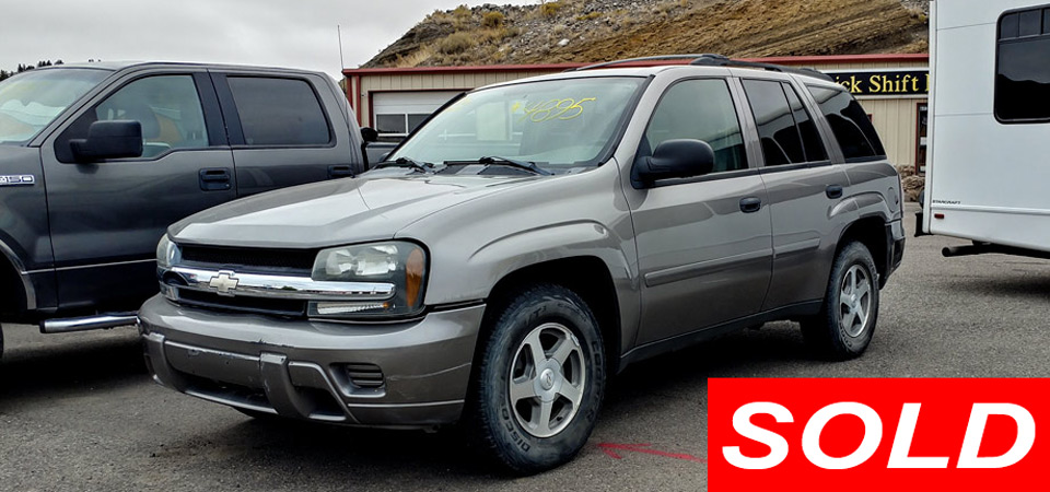 For Sale Used 2006 Chevrolet Trailblazer 4 x 4 Stick Shift Motors Cody, Wyoming